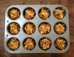 Carrot cake muffin baking tray