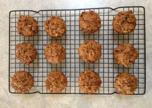 Cooked carrot cake muffins