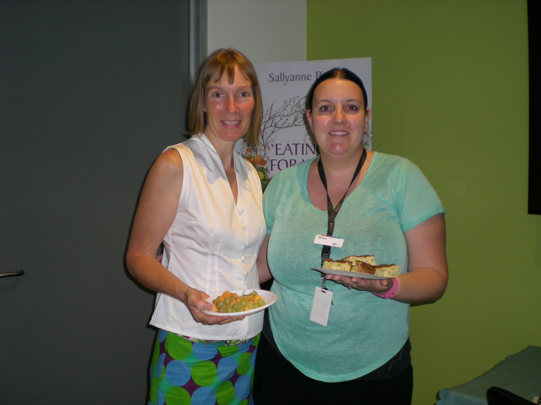 Samples of the great morning tea at Shepparton Library