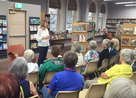 Sallyanne speaking at Castlemaine library