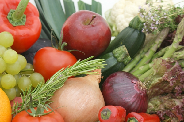 Picture of fresh fruit and vegetables