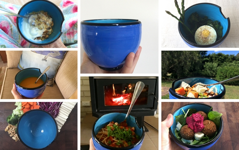 Eight photos of Sallyanne's one bowl meals from the One Bowl Challenge