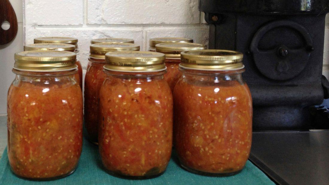 9 jars of homemade passata