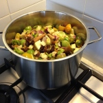 Green tomato relish raw ingredients