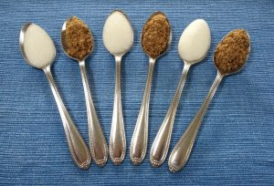 Six teaspoons of sugar a day