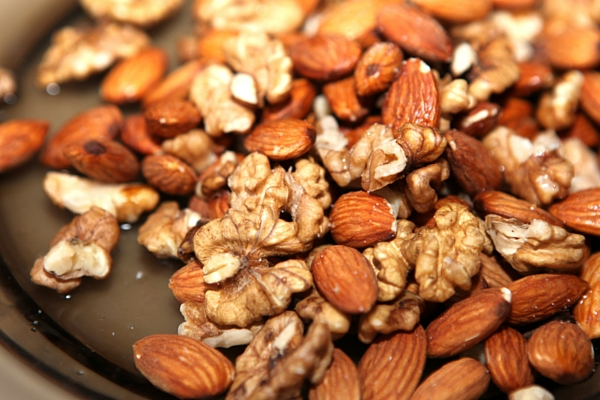 Plate of mixed nuts