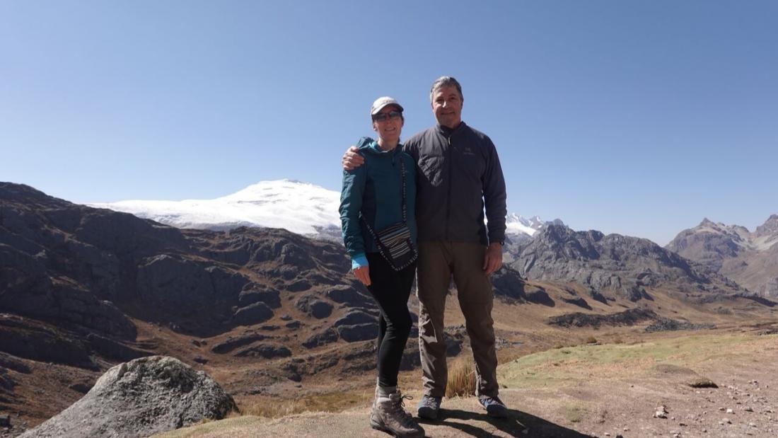Standing tall at Portachuelo Pass Huayhuash Trek