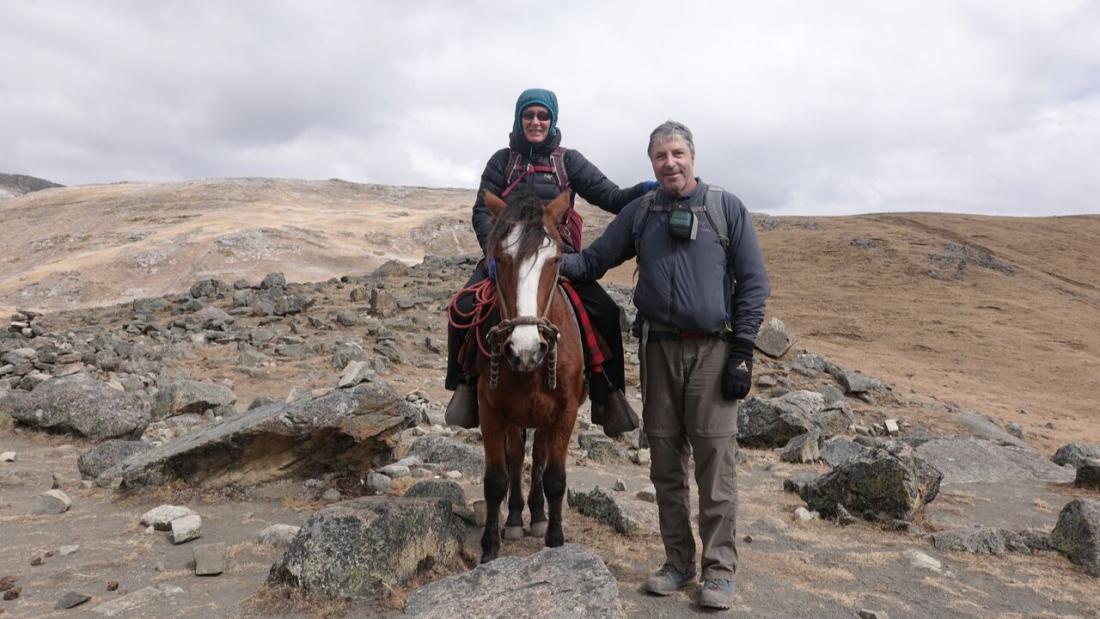 Tapush Pass Huayhuash Trek with Papa the horse