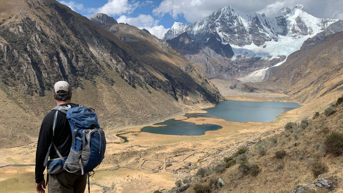 View of Lake Jahuacocha Huayhuash Trek