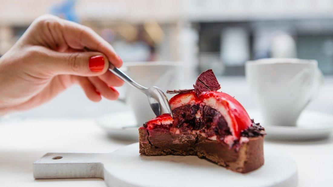 Chocolate and berry tart